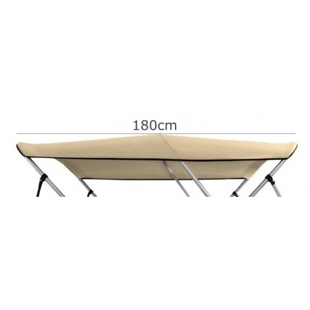 Lona Bimini Canvas 600D (3 arcos)  Largo 180cm