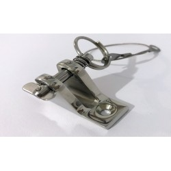 Top Stainless Steel Deck Hinge with Pin and Ring